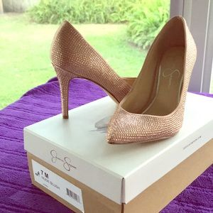 Nude blush shoes